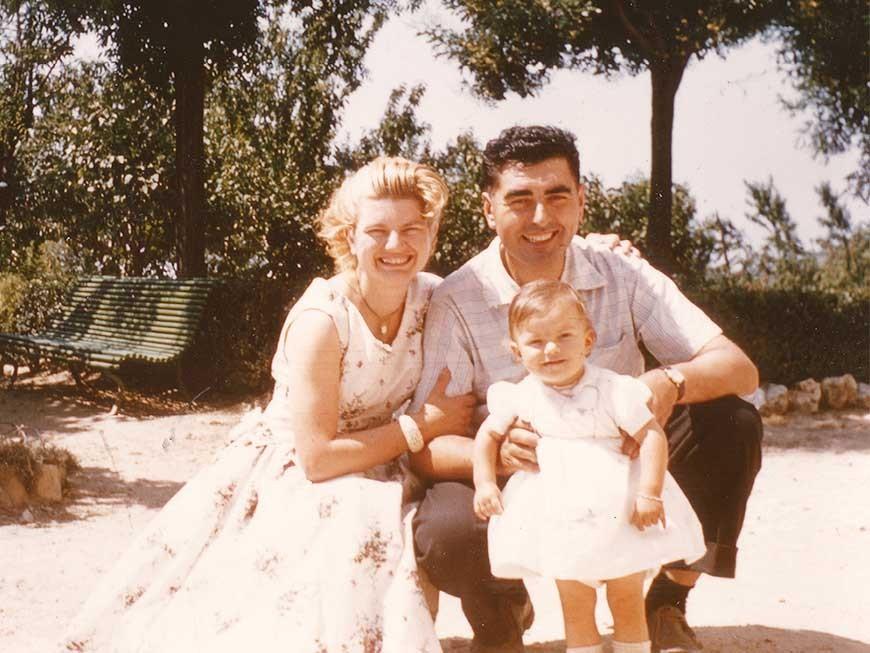 Dominique Croix avec ses parents Jeanne et Paul Croix